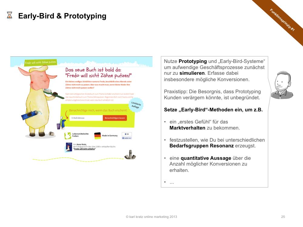 Early-Bird und Prototyping
