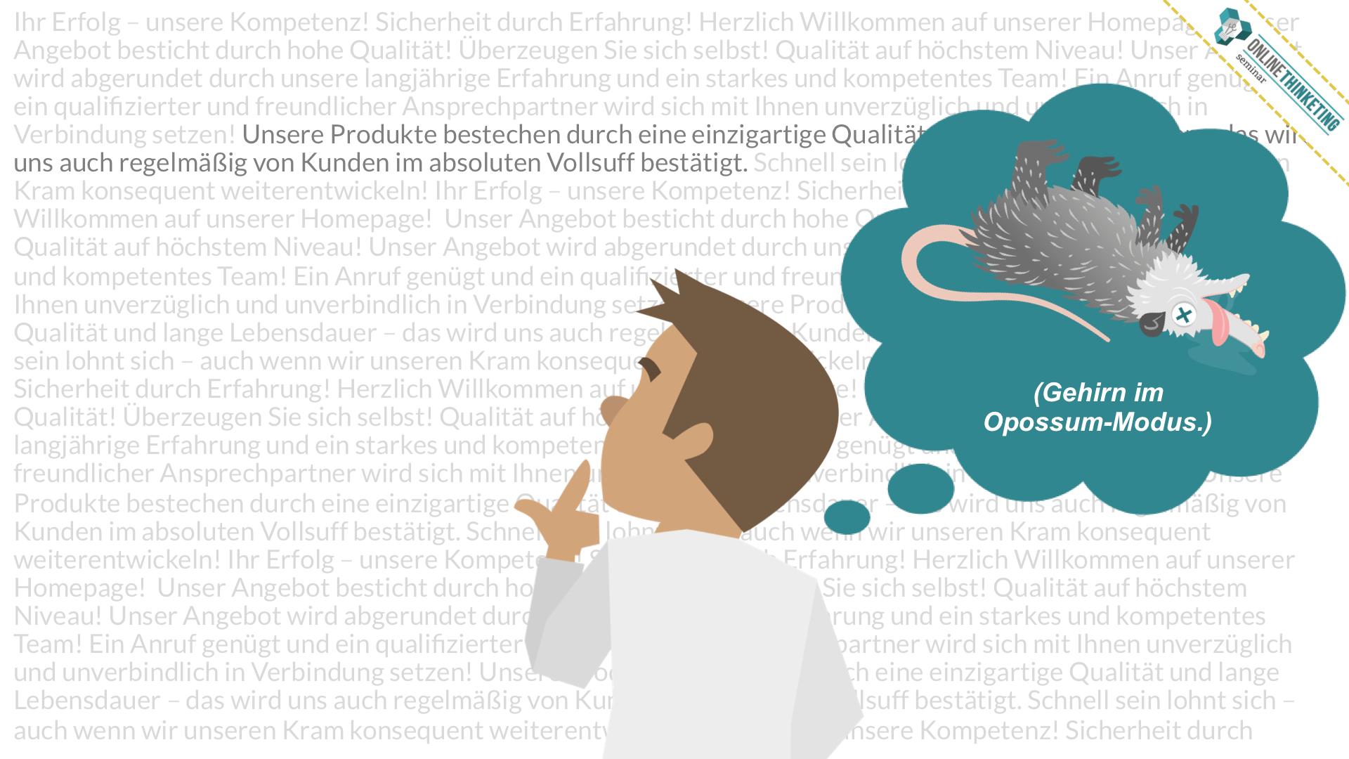 Wenn Dein Gehirn komplexe Entscheidungen treffen muss, geht es gerne in den