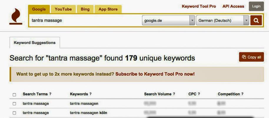 Keyword Tool » keywordtool.io