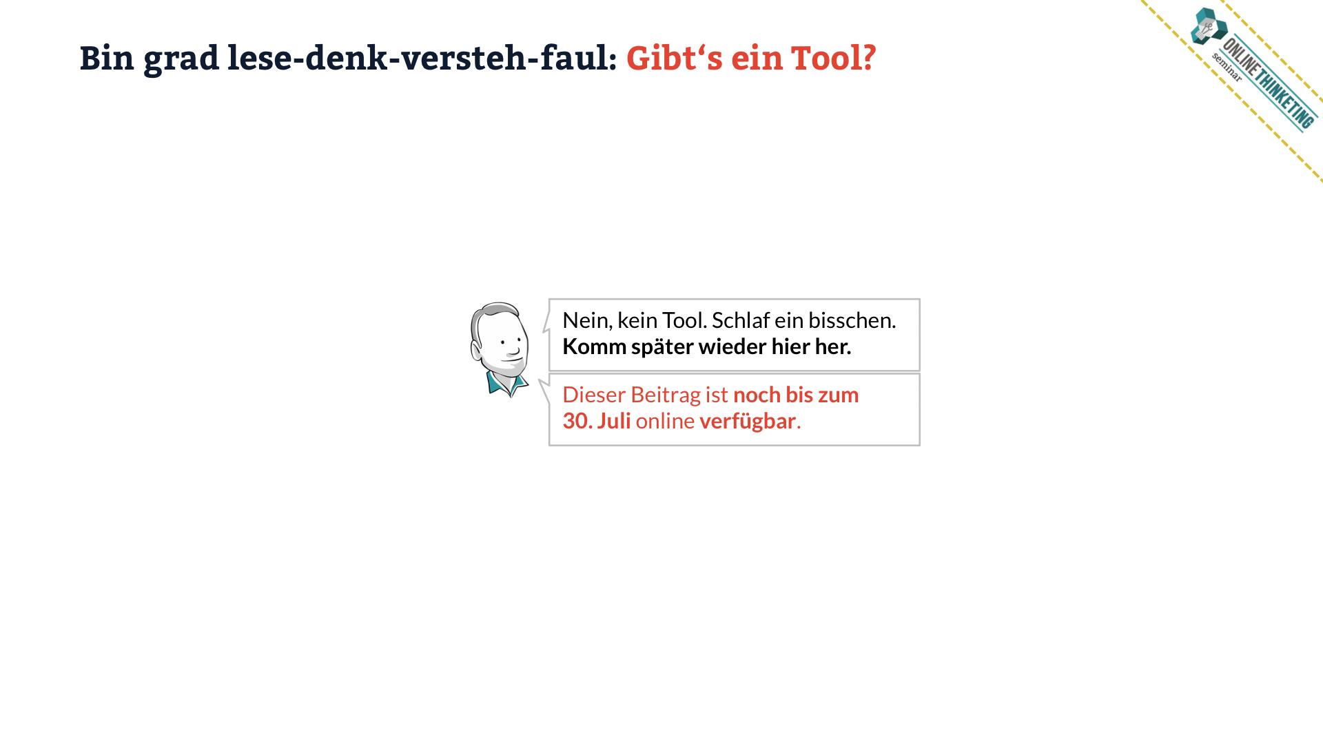 Bin grad lese-denk-versteh-faul: Gibt's ein Tool? Nein. :-)
