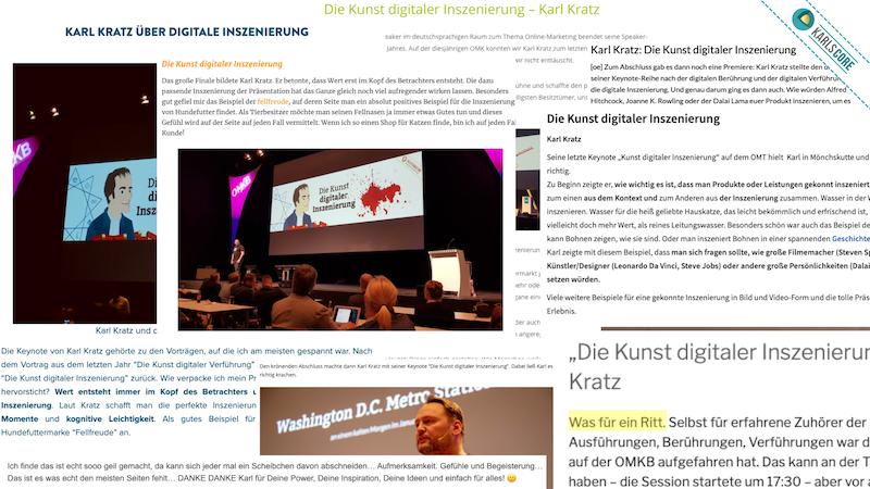 Unzähliges Feedback und Berichte zu den Keynotes