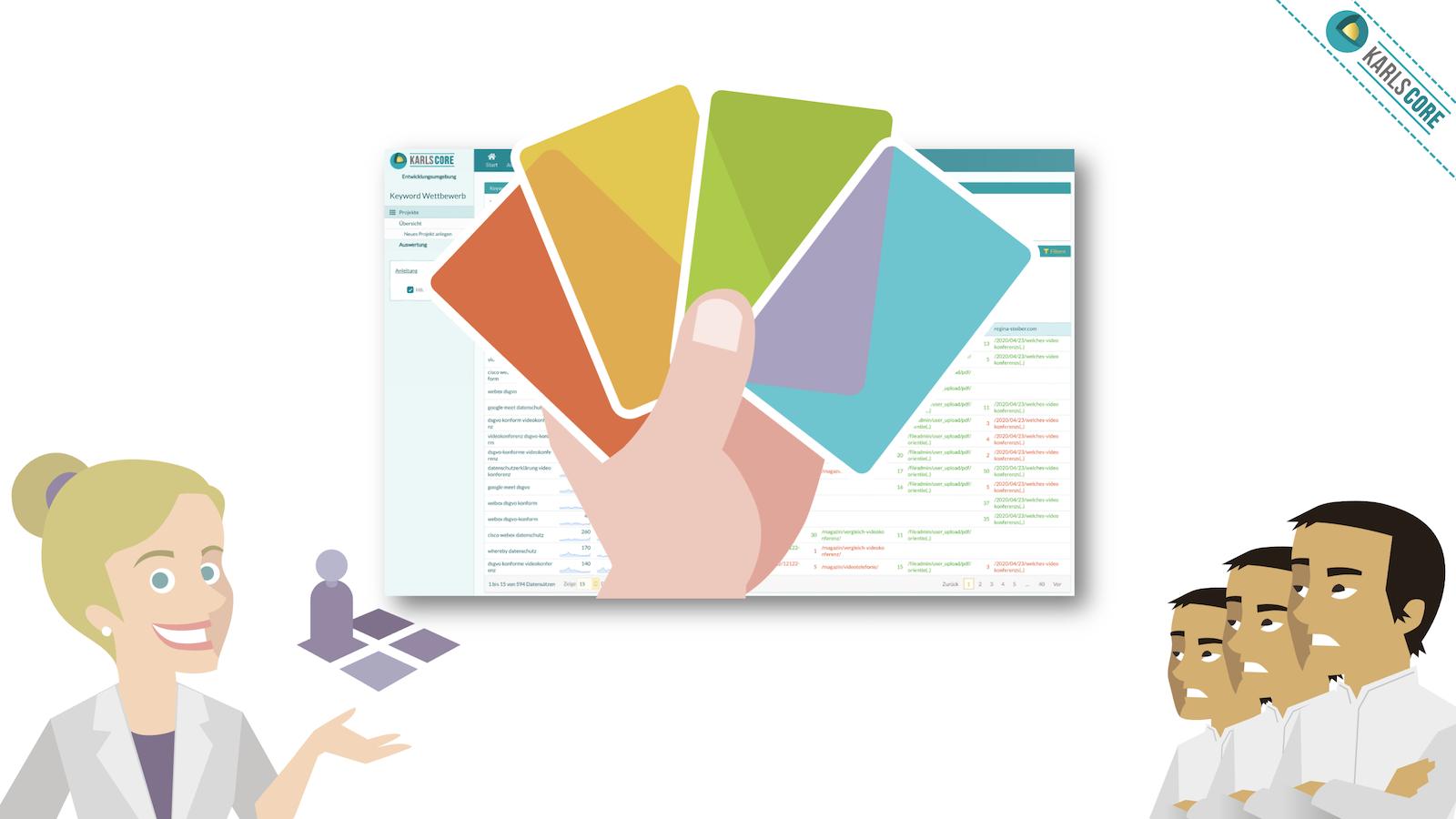 karlsCORE Keyword Wettbewerber Werkzeug: Wirf einen Blick in die Ranking-Karten Deiner Wettbewerber!