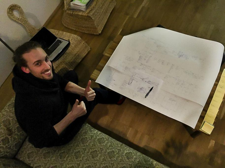 Miro beim Design des WTTS Prozesses